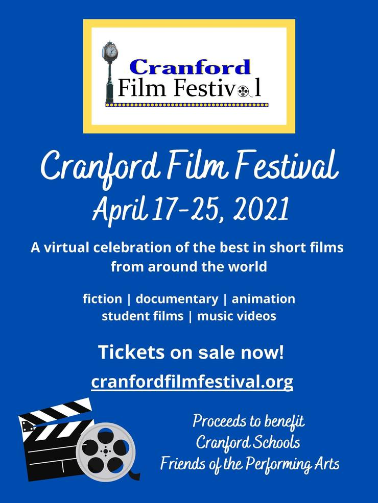 Join Us for the Inaugural Cranford Film Festival - April 17th-25th
