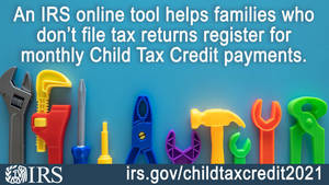 IRS unveils online tool to help low-income families register for monthly Child Tax Credit payments