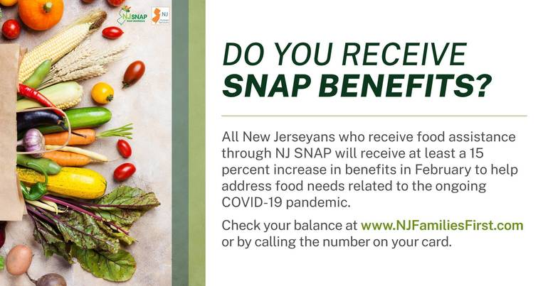 NJ SNAP Recipients to Continue to Receive Enhanced Food Assistance Benefits in February
