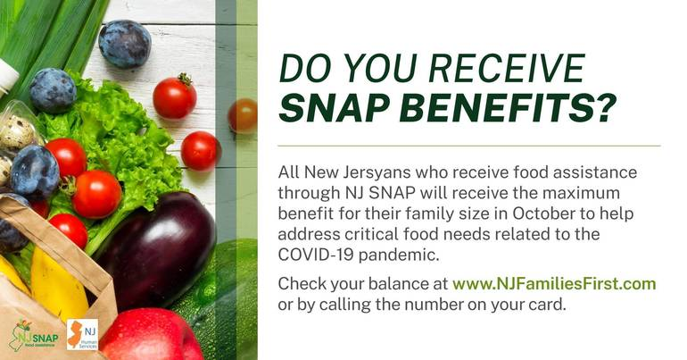 NJ Human Services Announces $42.4 Million More in Additional Food Assistance