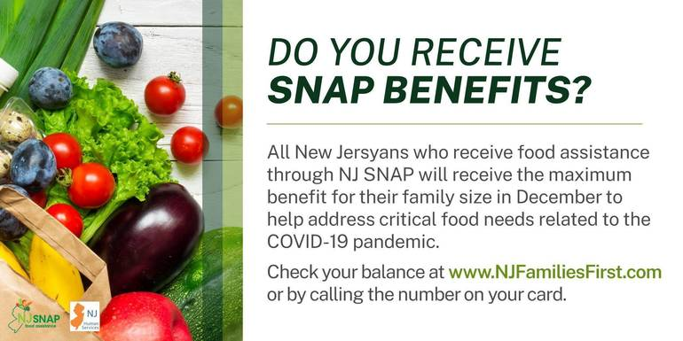 NJ Human Services Announces $46.6 Million More in Additional Food Assistance