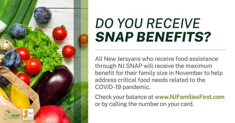 NJ Human Services Announces $44.8 Million More in Additional Food Assistance