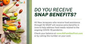 NJ Human Services to Deliver Extra June Food Assistance Benefits to 430,000 Households