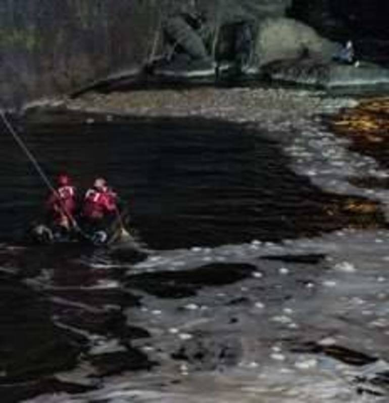 Paterson Firefighters Make Nighttime Rescue of Man at Base of Great Falls