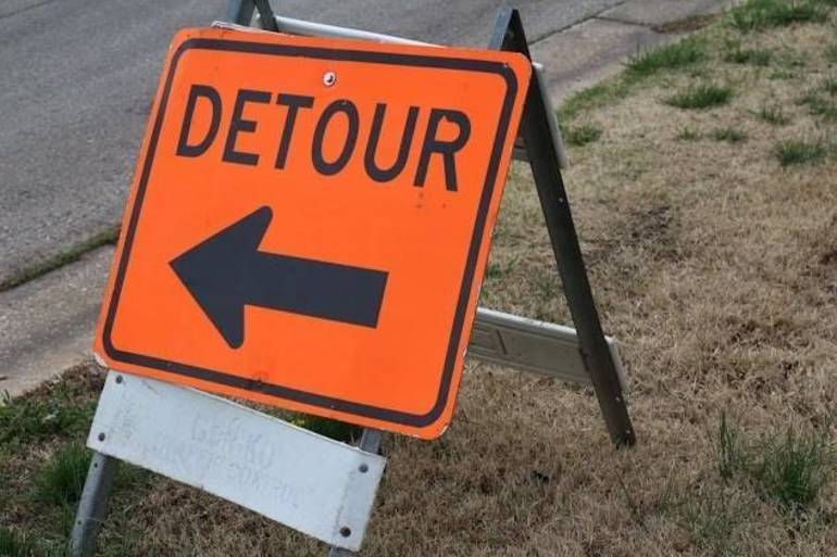 Detours Contiue In Spotswood On Thursday, August 29