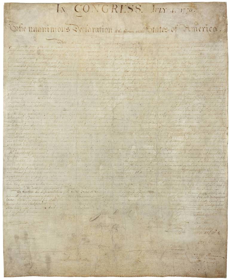 Declaration of Independence - National Archives - public domain.jpg