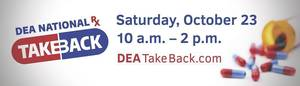 Operation Take Back Drug Event in Morristown, Morris Plains and Randolph; Saturday Oct. 23
