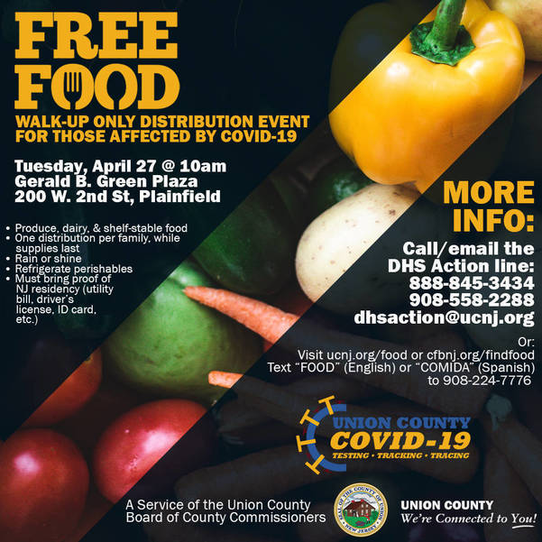 Union County Offering Three COVID-19 Emergency Food Distributions for April