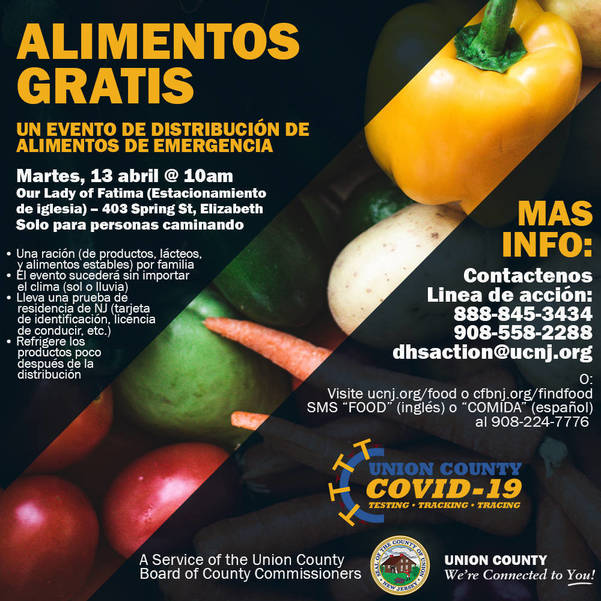 Union County Commissioners Announce Three COVID-19 Emergency Food Distributions for April