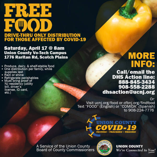 Emergency Food Distribution Event in Elizabeth on Tuesday