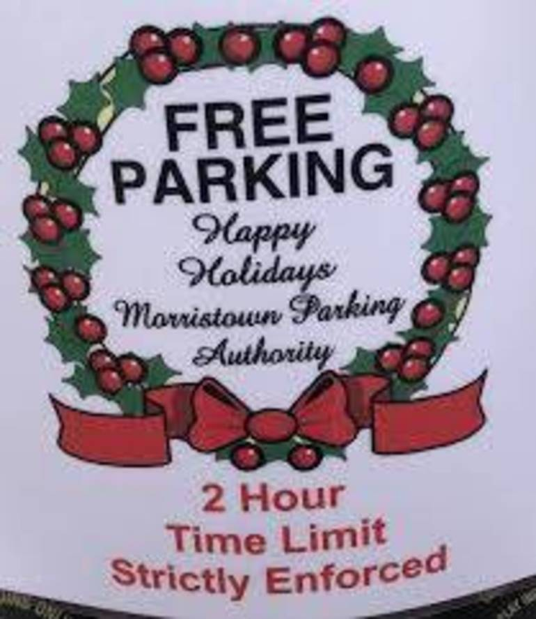 Free Holiday Parking in Morristown Will Begin Dec. 11