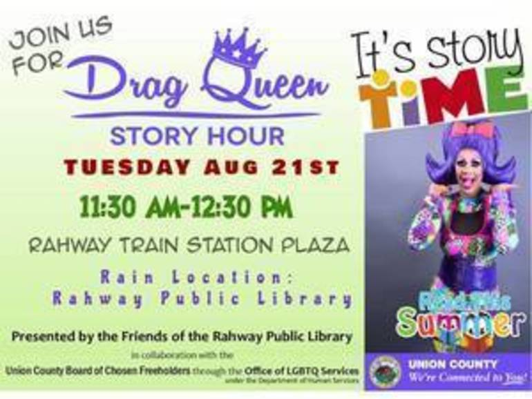 Fostering Inclusion with Drag Queen Story Hour in Rahway on Tuesday, August 21