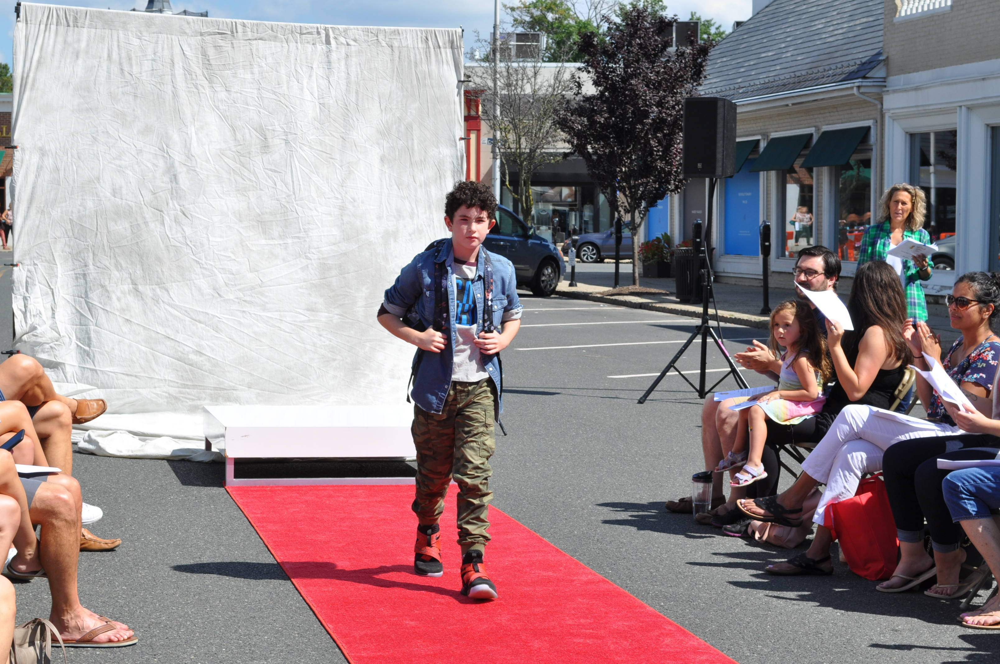 Local Models Sport Fresh Fall Looks at Downtown Westfield's Family Fashion Show