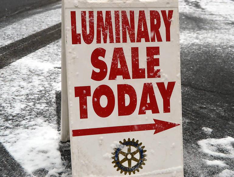 Fanwood Luminary Sale, sponsored by the Rotary Club, begins Sunday, Dec. 8.