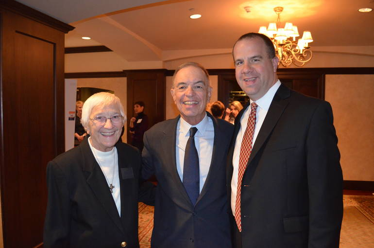 Sister Percylee Hart, Joe Connolly and Dr. James Reagan