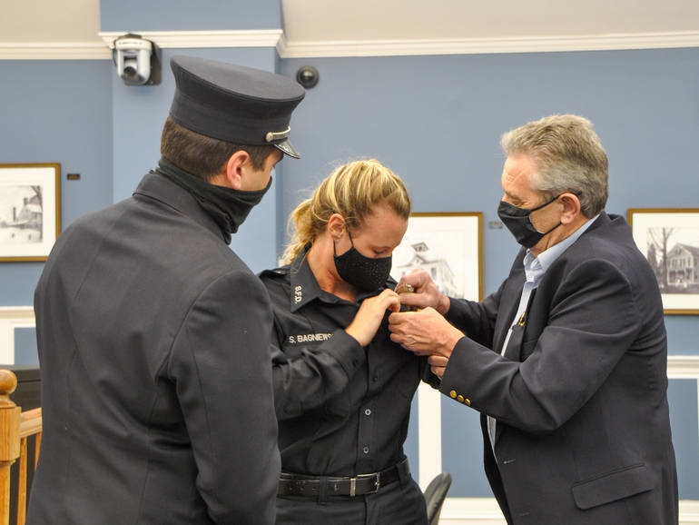 History Made for Springfield Fire Department, as First Female Firefighter Sworn In