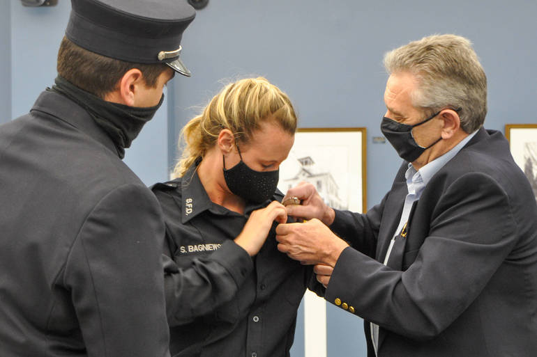 Cranford Native Takes Oath as Springfield's First Female Firefighter