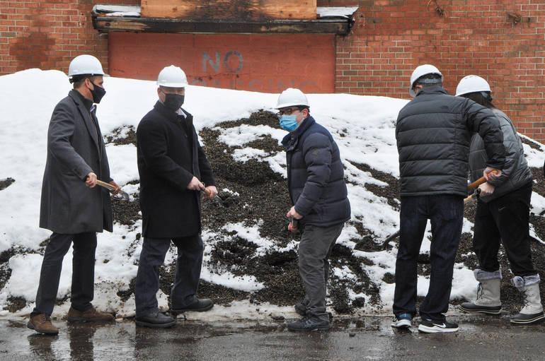 Groundbreaking Ceremony at Former Saks Site on Millburn Avenue
