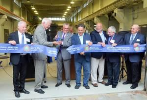 Ribbon-cutting at MCUA's renovated Sayreville Pump Station on Tuesday, June 22.