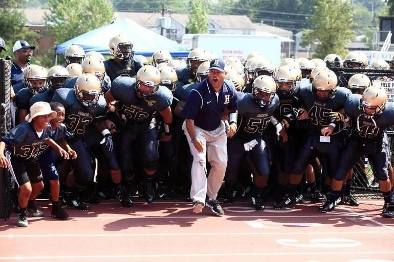 Hackensack High School football coach Benjie Wimberly was named the 2020 Lou Rettino High School Coach of the Year.