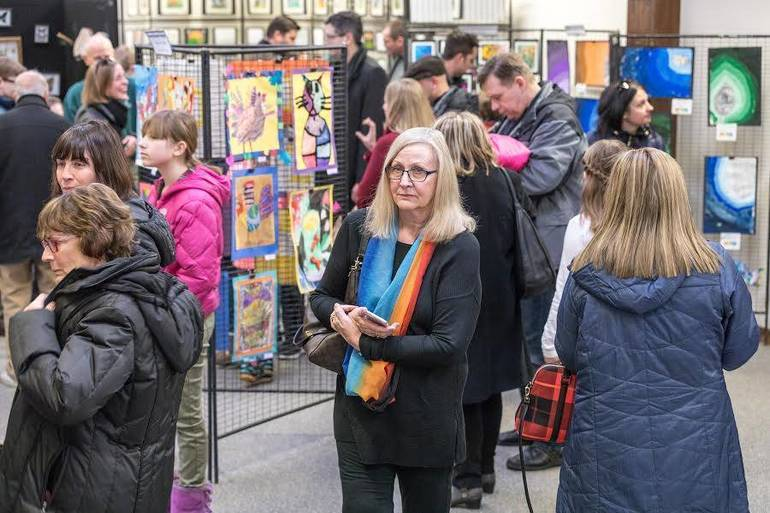 Reception for student artists