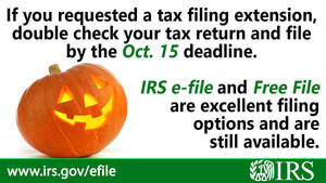 Most taxpayers who requested an extension to file their 2021 tax return must file by Oct. 15