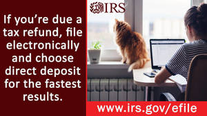 Get a federal tax refund faster with direct deposit