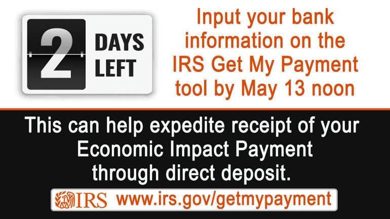 IRS stimulus check: Direct deposit portal deadline is coming