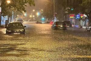 Flooding in Elizabeth earlier this week amid Tropical Storm Ida.