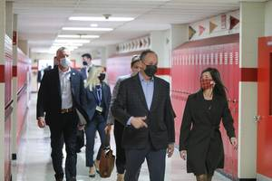 VP Kamala Harris' Husband, Doug Emhoff, Visits Newark to Encourage COVID-19 Vaccination