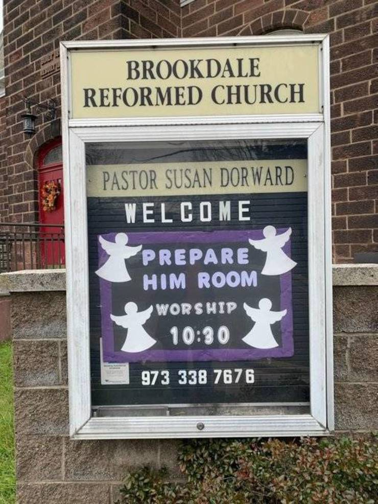 Brookdale Reformed Church Enters The Season of Advent Sunday Nov. 29 at 10:30 a.m. in Bloomfield