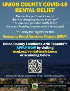 September 27 Application Deadline Approaching for Rental Assistance for Tenants in Union County Impacted by the COVID-19 Pandemic