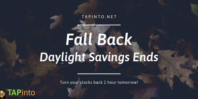 Daylight Saving Time Ends on Sunday, Set Your Clocks Back