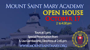Mount Saint Mary Academy Plans Open House on October 17th
