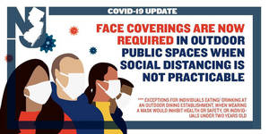 Murphy: Masks to Be Worn Outdoors When Distancing Not Possible