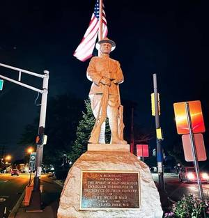 Doughboy Statue Back at Post, Ready for Memorial Day Ceremonies