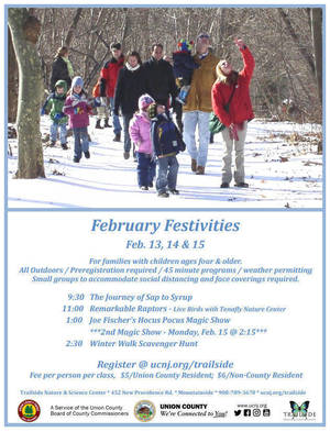 February Festivities at Trailside; Magnificent Raptors, Magic & Maple Sugaring