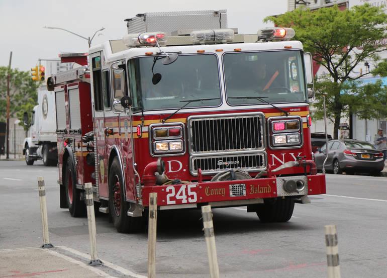Fire on Cedar Street in East Hanover
