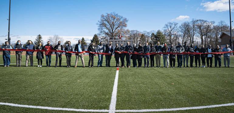 Union County Freeholders, Union County Improvement Authority Cut Ribbon on New Oak Ridge Park Athletic Field