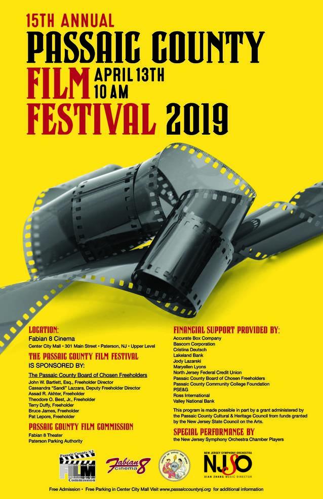 Passaic County FILM FESTIVAL April 13 2019