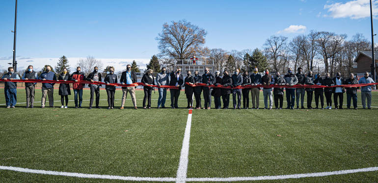 Union County Freeholders, Union County Improvement Authority Cut Ribbon on New Oak Ridge Park Athletic Field