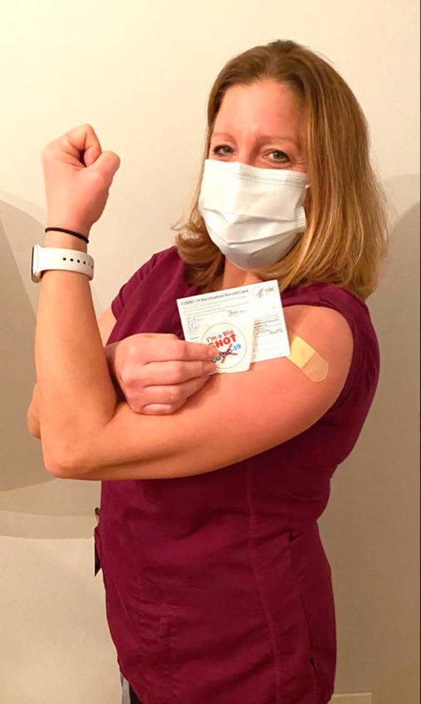Dr. Sharon Filler, a pediatrician who lives in Scotch Plains, received the COVID-19 vaccine earlier this week.