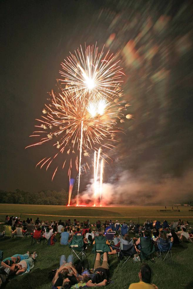 Annual July 4 fireworks in Somerset County