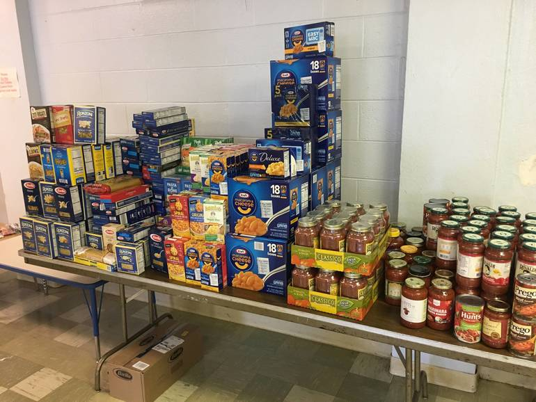 Food pantry at IHM in Scotch Plains