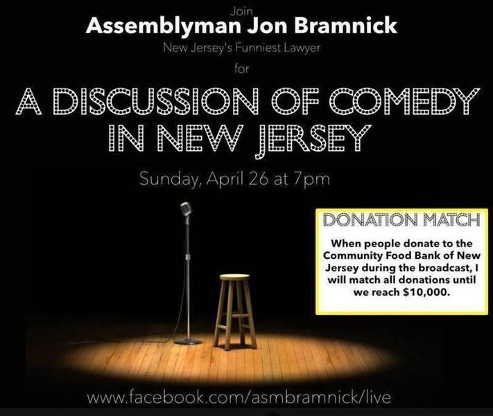 Jon Bramnick Raising Funds for Food Bank During Sunday Night's Facebook Live