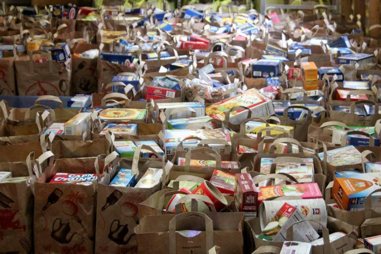 Food bank assistance pantry