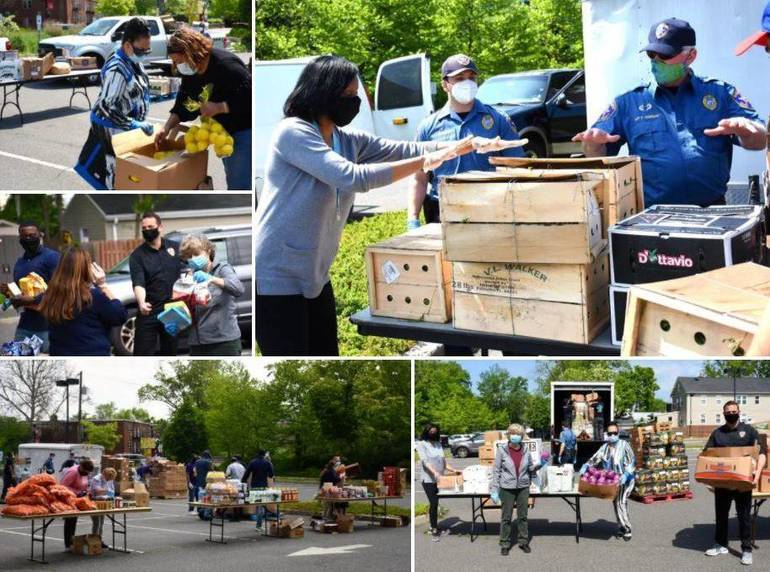 Food distribution efforts in Union County (credit County of Union, NJ).JPG