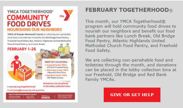 Giving Back - YMCA Holding Food Drive