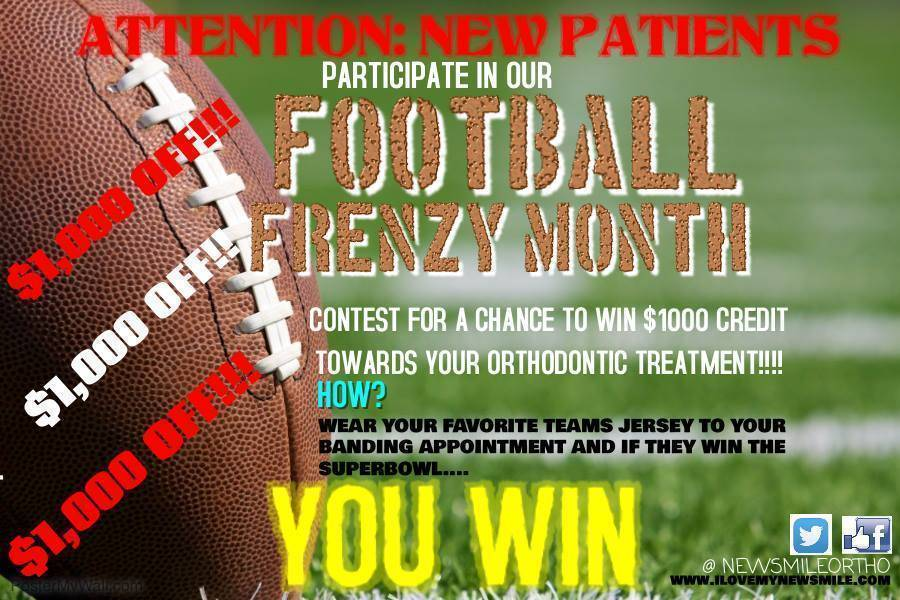 New Smile Orthodontics Football Frenzy Promotion