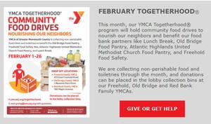 Togetherhood: YMCA Holding Food Drive